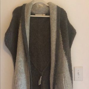 new anthropologie SOFT taupe one size cardigan